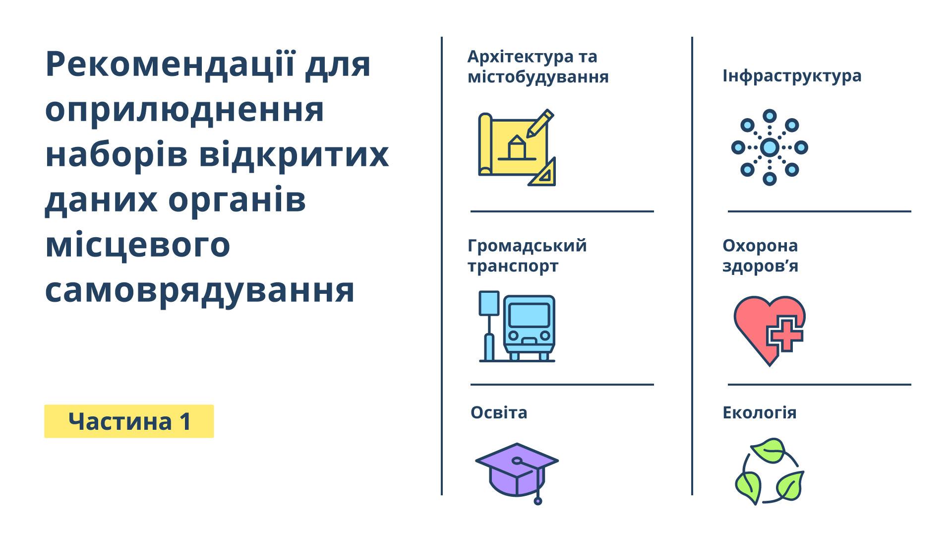 Проект рекомендацій для оприлюднення наборів відкритих даних органів місцевого самоврядування (1 частина)